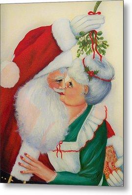 Sly Santa Metal Print by Joni McPherson