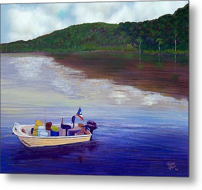 Small Fishing Boat Metal Print by Tony Rodriguez