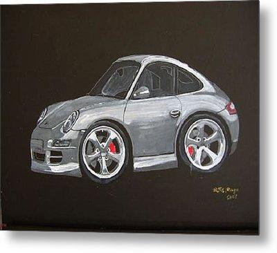 Smart Porsche Metal Print by Richard Le Page