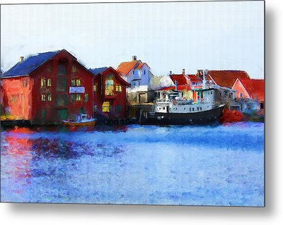 Smeasund Haugesund Metal Print by Michael Greenaway
