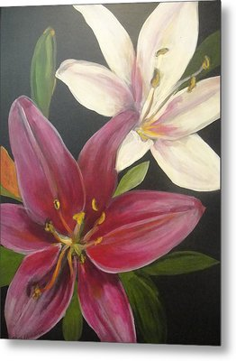 Smell The Lilies Metal Print