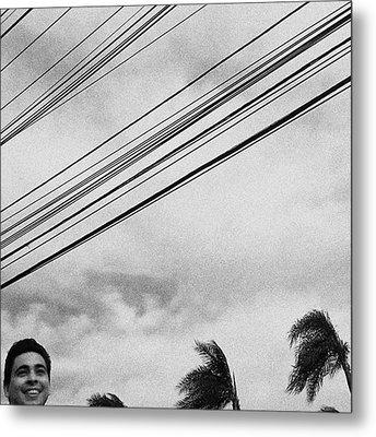 Smiling Palm Tree  #head #portrait Metal Print by Rafa Rivas
