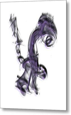 Smoke 01 Purple Metal Print