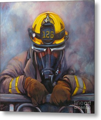Smoke Jumper 126 Metal Print by Pat Burns