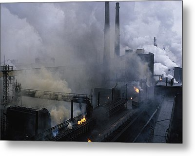 Smoke Spews From The Coke-production Metal Print by James L Stanfield