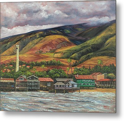Metal Print featuring the painting Smokestack Lahaina Maui by Darice Machel McGuire