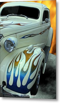Smokin' Hot - 1938 Chevy Coupe Metal Print by Betty Northcutt