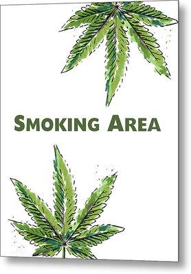 Smoking Area - Art By Linda Woods Metal Print