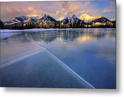 Smooth Ice Metal Print by Dan Jurak