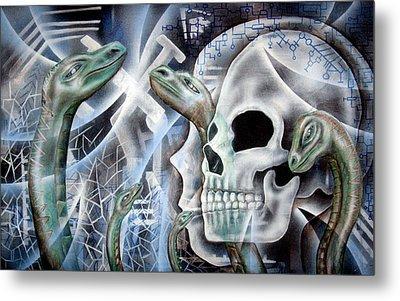 Snake Creation Metal Print by Leigh Odom