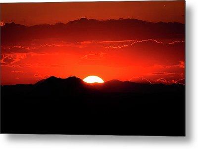 Snake River Plain Sunset Metal Print by Greg Norrell
