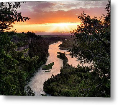 Snake River Sunset Metal Print by Leland D Howard