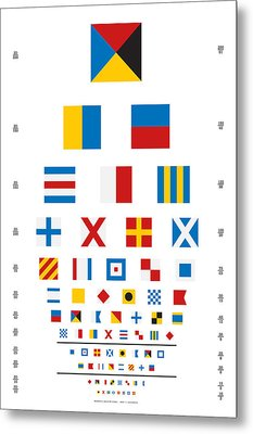 Snellen Chart - Nautical Flags Metal Print by Martin Krzywinski