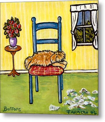Snooze Time Metal Print by Frances Gillotti