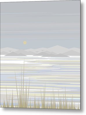 Snow And Ice  Metal Print by Val Arie