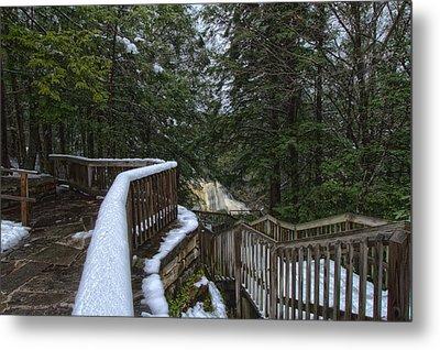 Snow Covered Path Metal Print