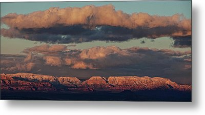 Metal Print featuring the photograph Snow Covered Red Rock Panorama by Ron Chilston
