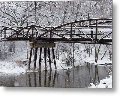 Snow Falling Metal Print by Elvira Butler