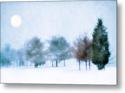 Snow Moon Metal Print by Darren Fisher