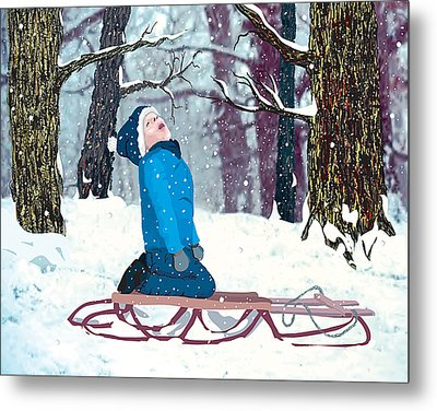 Snow Trance Metal Print by Terry Cork