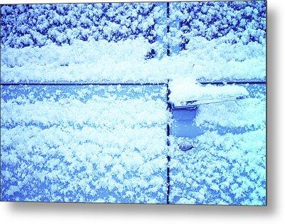 Snow Van 51 Chevy Panel Metal Print by Laurie Stewart