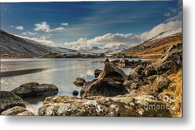Metal Print featuring the photograph Snowdon From Llynnau Mymbyr by Adrian Evans