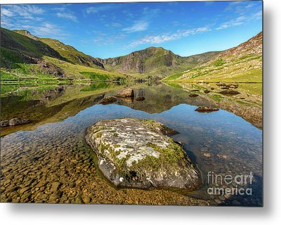 Snowdonia Mountain Reflections Metal Print by Adrian Evans