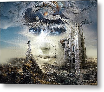 Snowfall In Parallel Universe Or The One That Got Away Metal Print by George Grie