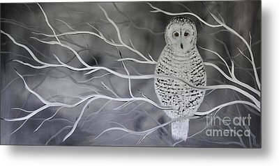 Snowy Owl Metal Print by Preethi Mathialagan