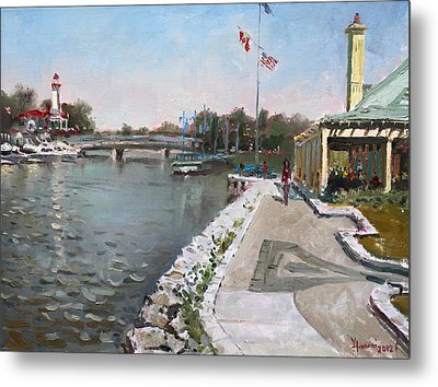 Snug Harbour Restaurant Metal Print by Ylli Haruni