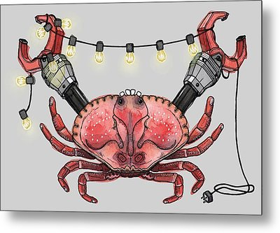 So Crabby Chic Metal Print by Kelly Jade King