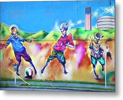 Metal Print featuring the photograph Soccer Graffiti by Theresa Tahara