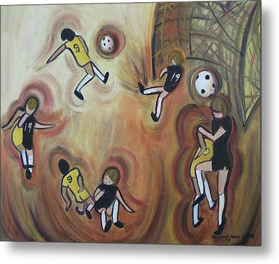 Soccer Metal Print by Suzanne  Marie Leclair
