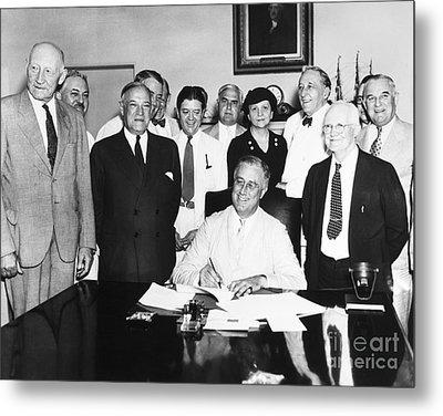 Social Security Act, 1935 Metal Print by Granger