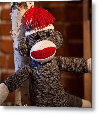 Sock Monkey Metal Print by Edward Myers