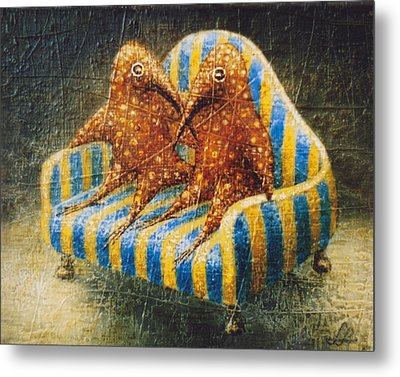 Sofa Metal Print by Lolita Bronzini