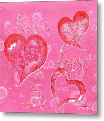 Soft Valentine Metal Print by Debbie DeWitt