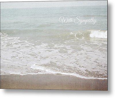 Soft Waves Sympathy Card- Art By Linda Woods Metal Print