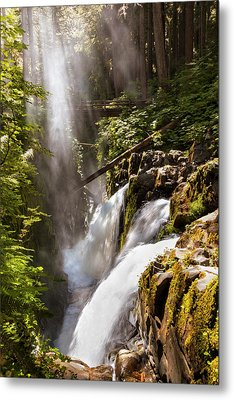 Metal Print featuring the photograph Sol Duc Falls by Adam Romanowicz