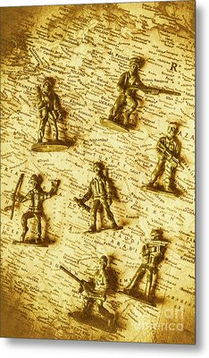 Soldiers And Battle Maps Metal Print by Jorgo Photography - Wall Art Gallery