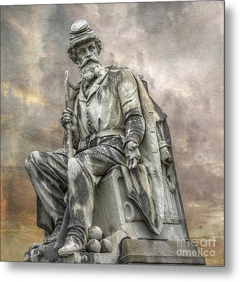 Soldiers National Monument War Statue Gettysburg Cemetery  Metal Print by Randy Steele