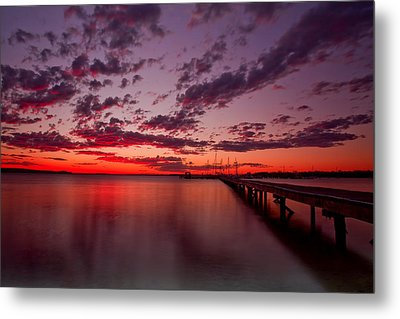 Soldiers Point Sunset Metal Print