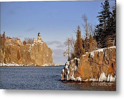 Solitude Rock Metal Print by Whispering Feather Gallery
