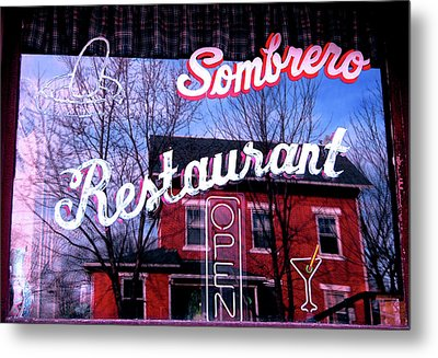 Sombrero Restaurant Metal Print by Jame Hayes