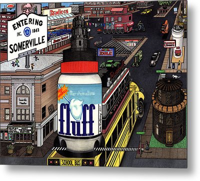 A Strange Day In Somerville  Metal Print by Richie Montgomery