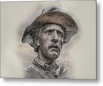 Son Of The Confederacy Portrait Metal Print by Randy Steele