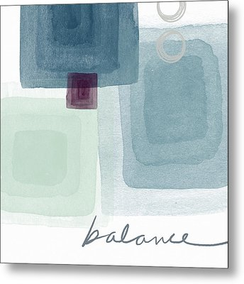 Soothing Balance- Art By Linda Woods Metal Print