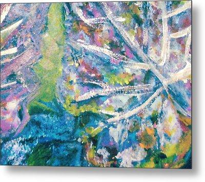 Soothing Blues And Greens Metal Print by Anne-Elizabeth Whiteway