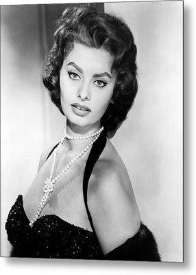 Sophia Loren, Portrait Circa 1957 Metal Print