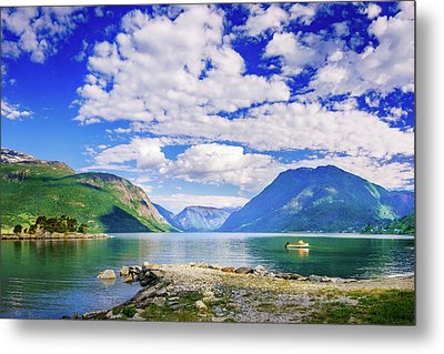 Metal Print featuring the photograph Soreimsfjorden by Dmytro Korol